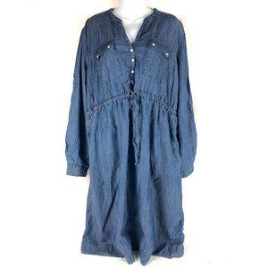 Gap Size XL Shirt Dress Blue Maternity Chambray